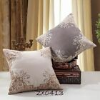 """Vintage Luxury Flower Stitch Embroidered Linen CUSHION COVER PILLOW CASE 20"""""""