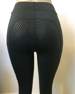 Nokota Full Silicone Seat Ladies Riding Tights Leggings Breeches with pockets