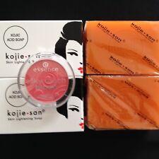 Kojie San Kojic acid skin lightening soap X 2 bars big size + Free Silky blush