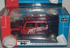 NFL H2 Hummer New England Patriots 1:43 scale-Limited Ed-#'d - NEW in BOX