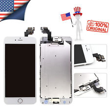 for iPhone 6 Plus Screen LCD Touch Display Home Button Camera Replacement White