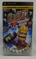 Buzz Master Quiz (Sony PSP, 2008) New sealed !