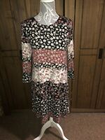 Tu Ladies Floral Quirky Unusual Dress Size 10