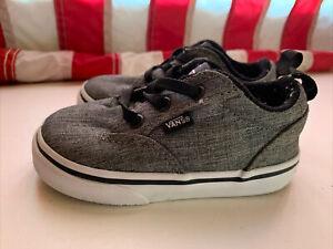 VANS Off the Wall 721356 Toddler Kids Sz 6 Gray Skater Sneaker Shoes