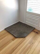 Polished Concrete Corner Hearth