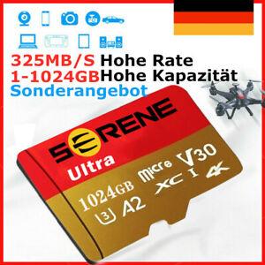 Micro SD Card Speicherkarte 64GB 128GB 256GB 1TB 325MB/s Class10 4K Memory Card