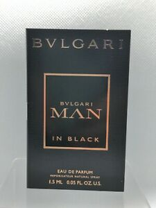 Bvlgari BVLGARI MAN In BLACK Eau de Toilette .05oz/1.5ml CARDED  SAMPLE