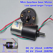 Metal Gearbox Gear Motor DC3V~6V 14RPM-28RPM Large Torque low Speed for Lock