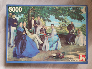 Nathan 3000 piece puzzle, 'Family Reunion', by F. Bazille, 1997 - Rare!