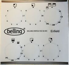 Belling Enfield 552, 622, 641 etc fascia sticker set for worn fronts.