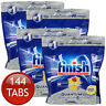 4 x FINISH POWERBALL QUANTUM MAX LEMON SPARKLE SCENT DISHWASHER TABLETS 36 TABS