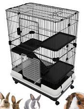 Large 4-Levels Hutch On Wheels Guinea Pig Rabbit Chinchilla Ferret Hedgehog Cat