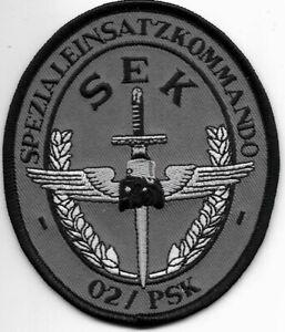 SEK Polizei 02/PSK Sniper SPEZIALEINSATZKOMMANDO  Abzeichen Patch SWAT BFE GSG-9