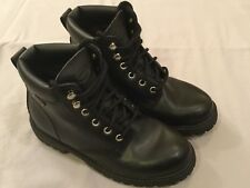STATE STREET Waterproof Black Military Work Boots Mens Size 5.5, Womens 7.5 EUC