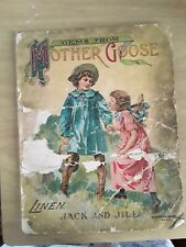 Gems from Mother Goose, Jack andJill, Linen, McLoughlin, late 1800s,early 1900s