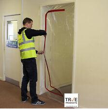 True C Zip Door Kit - Dust Stop Door for Renovation DIY Polytunnels Construction