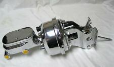 """Chevy Truck 7"""" Power Booster + Smooth Master Cylinder & Mounting Brackets CHROME"""