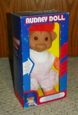 "Vintage - Audrey Troll Doll - Light-up Face / 10"" - Original Box - Orange Hair"