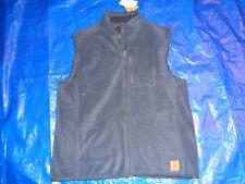 FIELD & TREAM Men Size LARGE SIDE POCKETS NAVY Full Zip Fleece VEST NWT