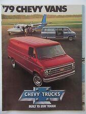 1979 CHEVY VANS Sales Ad Brochure Nomad-Sportvan-Caravan Trucks + Colors- Specs