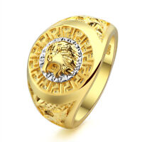 Lion Ring Head Men Steel Stainless S Silver Gold Biker Size Jewelry Rings 8 11 M