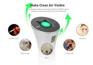 DEME-PureVIS Air Monitoring Purifier (White)  Ionic, Odor Reduction, Kill Virus