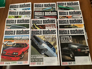 12 Issues Hemmings Muscle Machines Magazine Chevy Dodge Ford