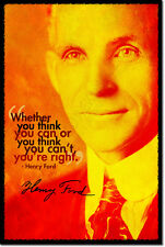 HENRY FORD ART PHOTO PRINT POSTER GIFT ENGINEERING QUOTE