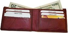 New style leather man's wallets 2 suede line billfolds 9 credit card slots 1 ID