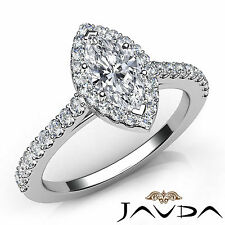 Marquise Diamond Flawless Engagement Prong Set Ring GIA G VS2 18k White Gold 1Ct