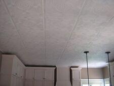 Styrofoam ceiling tile. Easy DIY popcorn ceiling cover. 1 tile ~ 2.7sq.ft. #R-30
