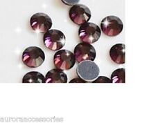 5mm Great Quality Hot Fix/Iron On Amethyst Purple Flatback Round HOTFIX SS20