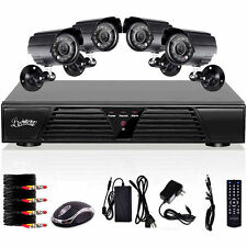 4 CH DVR H264 Indoor Outdoor CCTV Home Surveillance Security Camera System