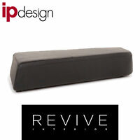 IP Design Drift Leder Hocker Schwarz Ottoman #12993