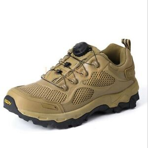 Men Low Top Military Tactical Desert Outdoor Hiking Shoes Combat Ankle Boots