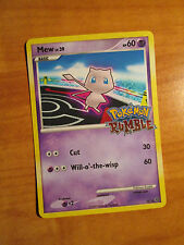 NM Pokemon MEW Card RUMBLE Promo 10/16 Game Stamped Set Collection Box TCG 151