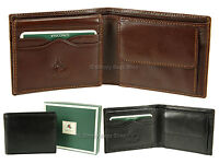 Visconti Mens Top Grade Leather Wallet For Cards Notes & Coins In Gift Box - MZ4