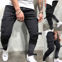 Mens Sport Trousers Tracksuit Gym Regular Fit Joggers Sweatpants Bottoms Pants