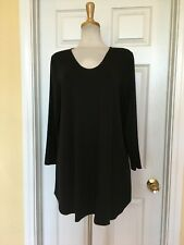 EILEEN FISHER black tunic top size L