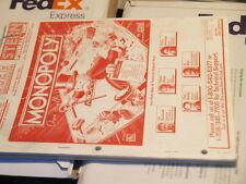 FLIPPER STERN Monopoly operazioni & parti e schemi manuale originale FLIPPER