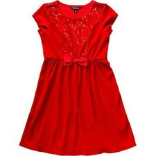 George Girls' Sequin Velour Holiday Dress Classic Red Size M 7/8 NWT
