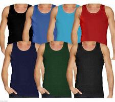 New Men's Vests 3 6 Pack Gym S-XXL Mix Colour Sleeveless T-Shirt Tank Top Vests
