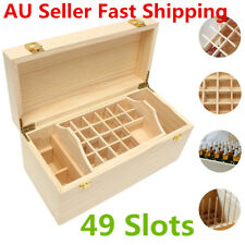Large 5ml~100ml 49 Slots Essential Oil Bottles Wooden Box 2 Drawer Storage Case