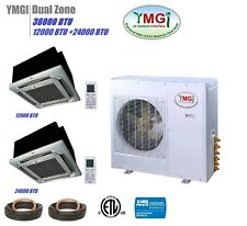 YMGI 36000BTU DUAL ZONE DUCTLESS MINI SPLIT AIR CONDITIONER Heat Pump Dual Zone