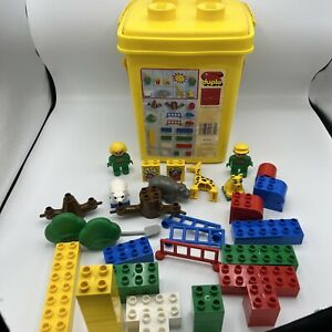 Duplo Set #1689 Special Zoo Babies yellow Bucket ages 2-5 Vintage 1991 Swiss USA