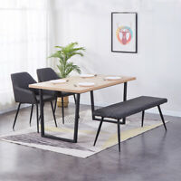 1X Grau Sitzbänk Betthocker Essenzimmerbank Kunstleder Polsterbank Flurbank Neu