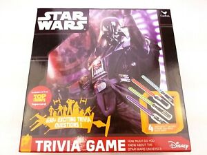 Star Wars Trivia Card Lightsaber Family Game 650+ Questions Disney Lucasfilm NIB
