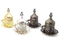 Coffee Set Espresso Latte Ottoman Turkish Gaiwan Porcelain Saucer Cup Mug Copper