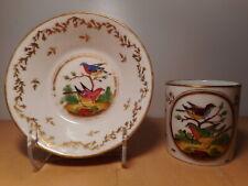 Tasse et sous tasse ancienne 18 siècle porcelaine Paris Locré La Courtille