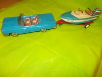 1959 CHEVROLET CONVERTIBLE BY LINE-MAR WITH SKIPPER M-333 BOAT-MOTOR-TRAILER!!
